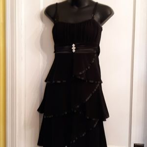 DEB black layer strap dress or gown